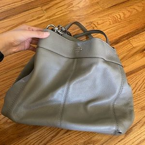 Coach Lexy Pebble Leather Fog Shoulder Bag